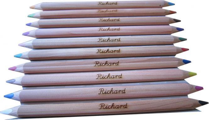 Holzstifte-Set (10 Stifte) - mit Namen